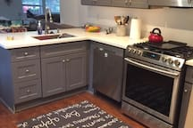 The kitchen is very functional and for your use... please help me keep it clean.