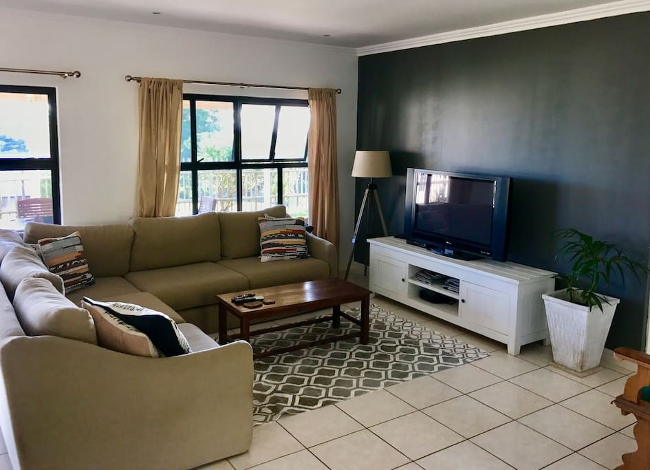 Open Plan lounge with comfy corner couch. My favorite spot!