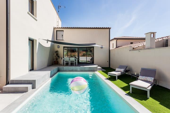 Belle villa d'architecte entre Mer et Garrigue