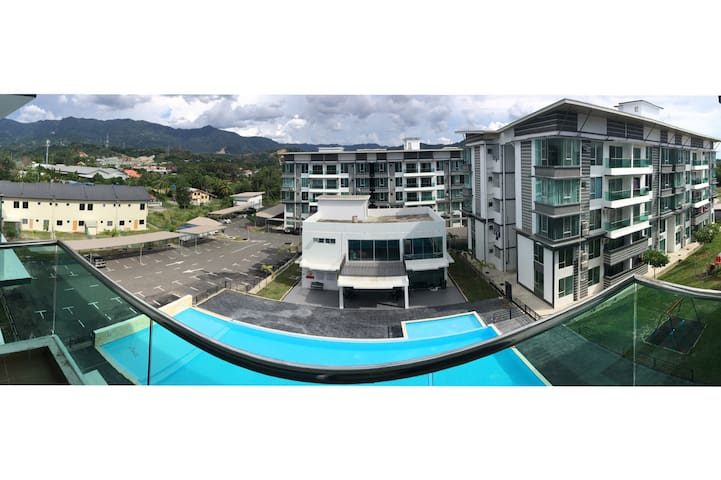 1BD SERENITY Concept CONDO with HILL & POOL View - Kota Kinabalu  - Kondominium