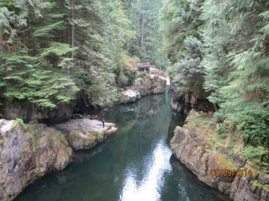 Capilano River and trails just a short walk away