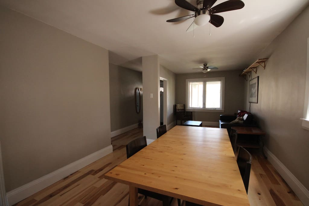 Dining area, open concept.  New floor. Shared.