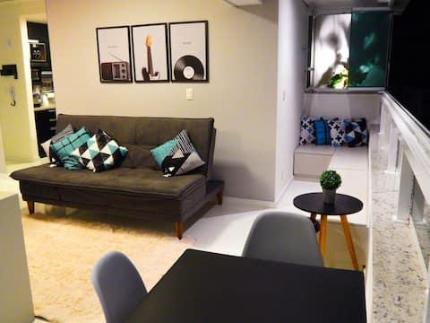 Studio novo e moderno no centro de Poços de Caldas