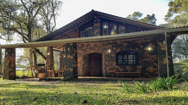 Casa de Pedra no Campo - Campos Novos - SC