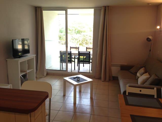 Appartement confortable entre plage, forêt et golf