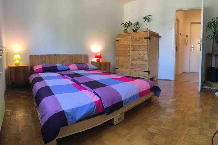 Private Apt in Ljubljana with Free Parking&KingBed