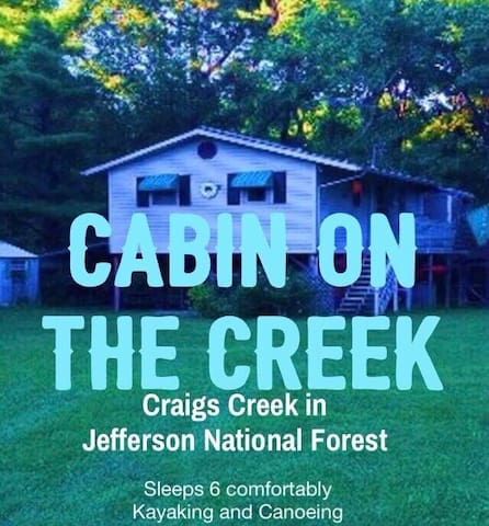 Rustic Cabin on Craig Creek for the Family