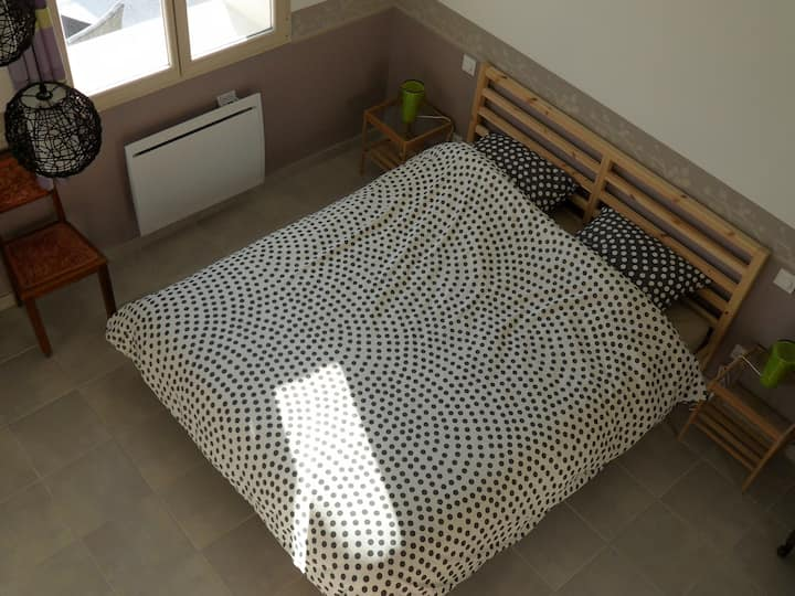 Chambre d'hôtes-Double room-Comfort-Ensuite with Bath-Countryside view