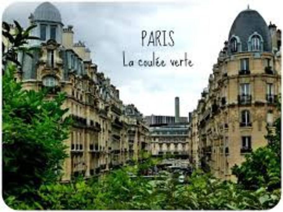 L'appartement est situé entre la Bastille...