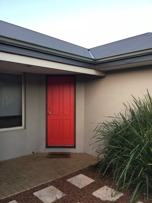 An actual Red Door Welcome