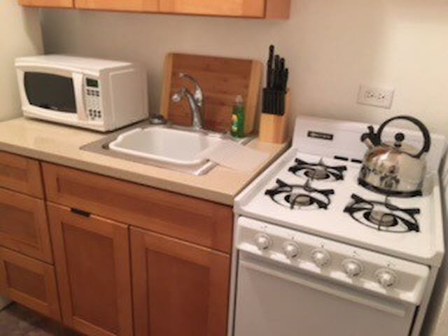 Full galley-style kitchen