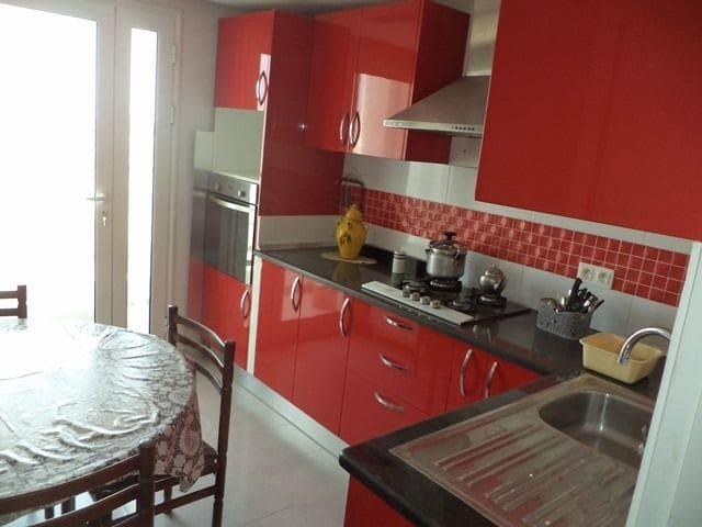 Furnished 1bed flat (1.4 km away from the beach)