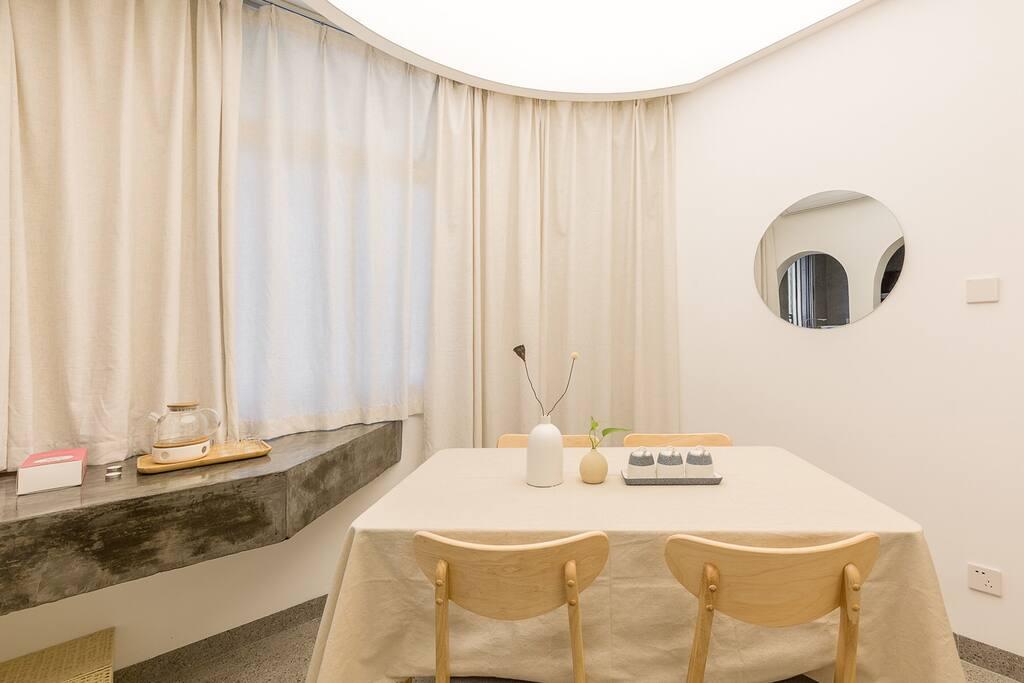 餐厅·茶室,白净圣洁的神性天光下优雅品饮