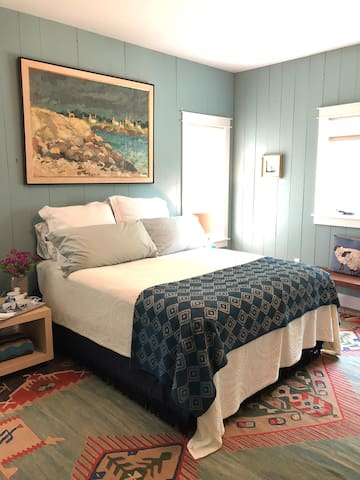 Master bedroom--The Dix Blue Room