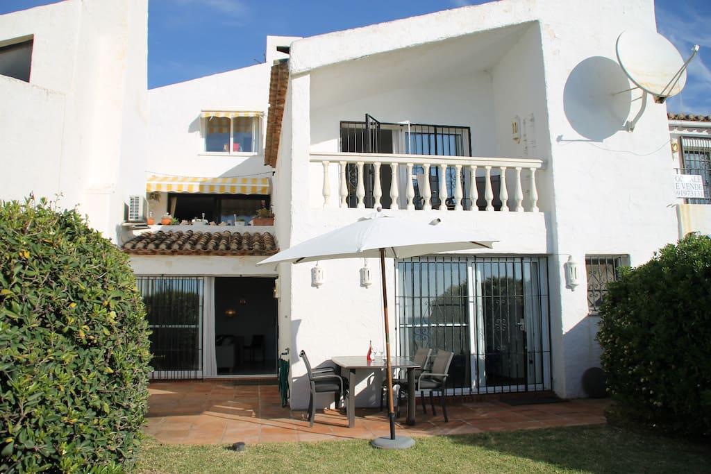 Husets front mod havet