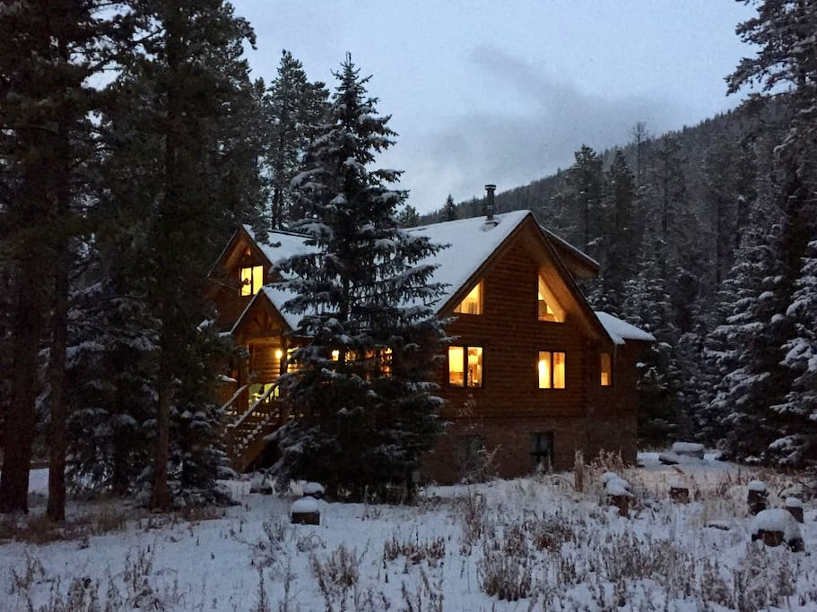 Nestled in the woods and surrounded by the Mountains of Breckenridge