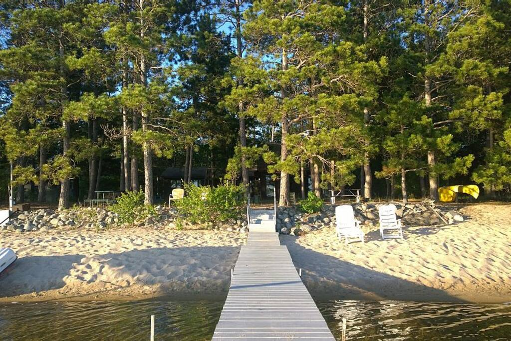 Looking towards house from dock #1 with sugar sand beach
