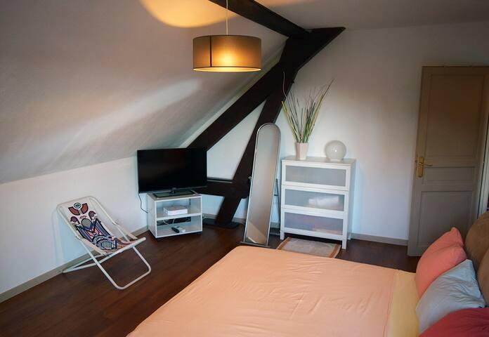 Chambre dans maison proche Genève au pied du Jura