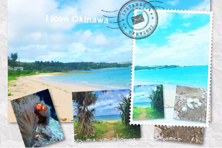 恩納Onna包層2戶(4-12人)徒步1分綺麗沙灘Ocean沖繩恩納濱海渡假公寓,近超商