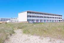 View of property from the beach.
