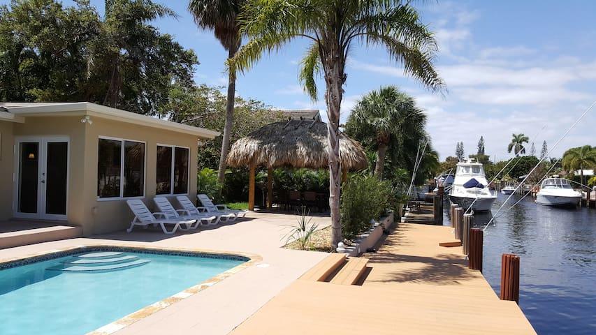 Waterfront Villa - Sleep 7 - Pompano Beach - Huvila