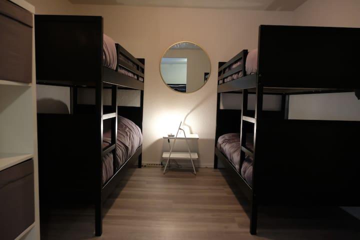 Bedroom 3.  2 bunks 4 beds