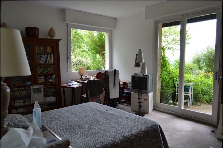 Chambre et salle de bains privatives pour 2 pers - Salies-de-Béarn - Hus