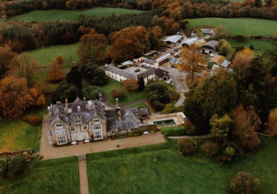 Blessingbourne Manor House in Autumn