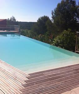 Duplex de standing : terrasse, jardin et piscine - Saint-Gély-du-Fesc - 公寓
