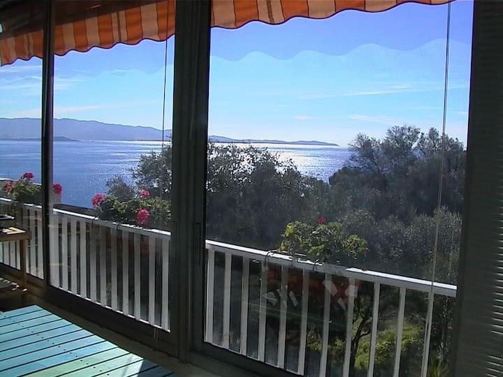 Appartement face à un bois d'oliviers, vue sur mer