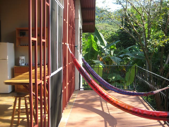 Hammock time! Back Balcony.