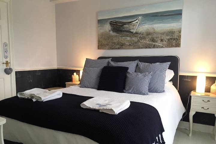 Bedroom includes King Size bed, TV and coffee and tea making facilities