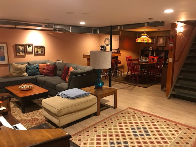 A Two-Bedroom Basement Studio