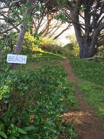 Your own private beach access - only a few foot steps to the sand