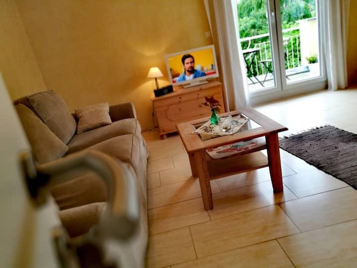 Ferienwohnung A Casa Mia, (Gengenbach), FeWo Cannobio, 50qm, 1 Schlafzimmer, max. 4 Pers., WLAN, Parken, Wasch- & Geschirrspülmaschine, Balkon