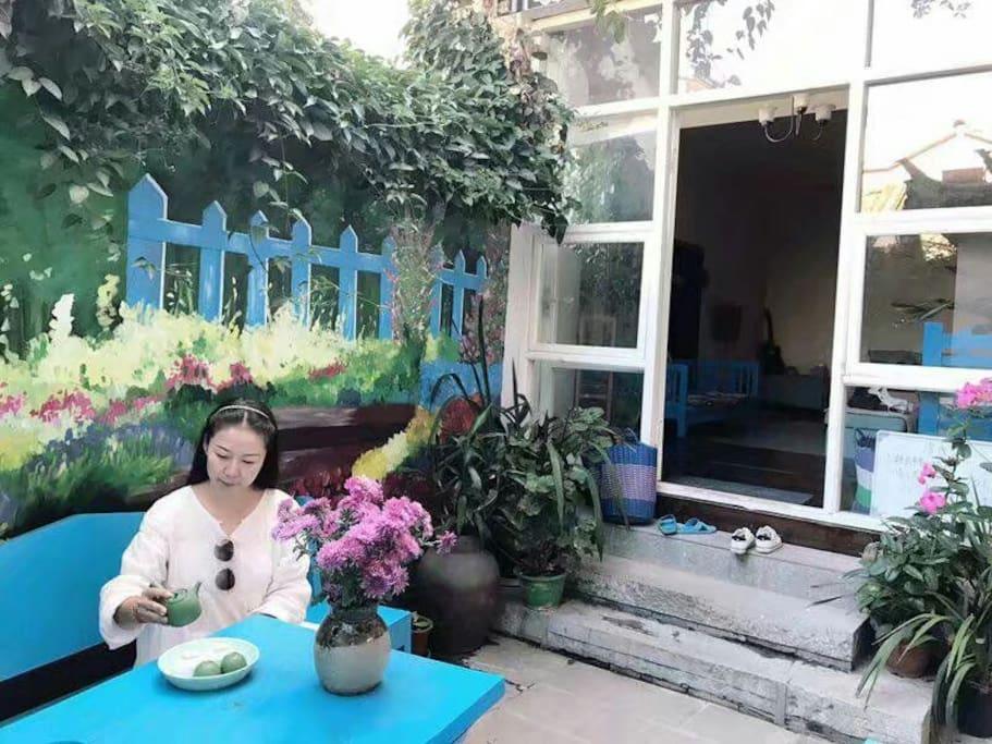 两朵花开小院子茶舍