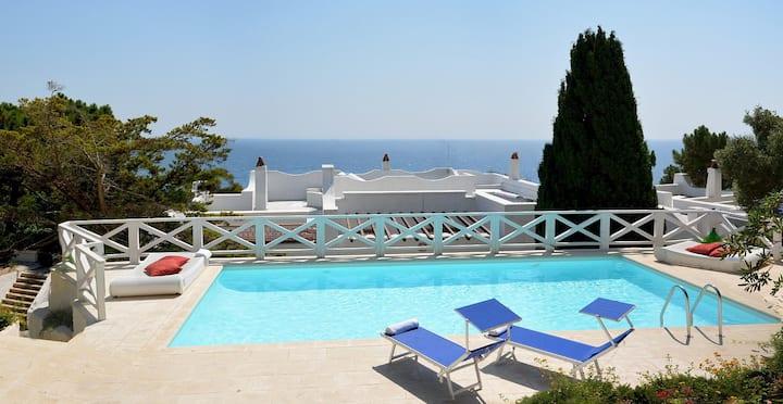 Villa with pool and private direct  sea-access