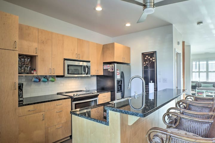 Prepare a delicious feast with the stainless steel appliances.