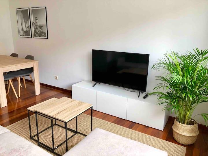 Céntrico apartamento en Llanes con garaje y WiFi