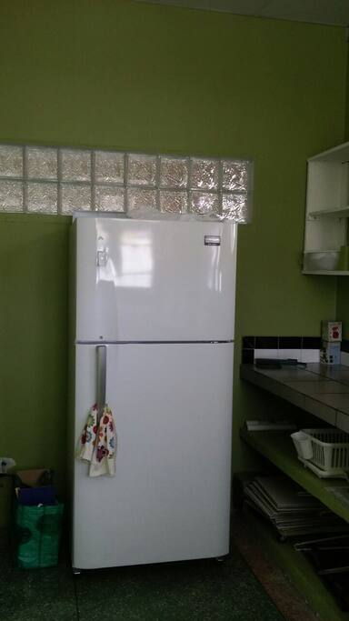 Full size refrigerator to store your food and drink.