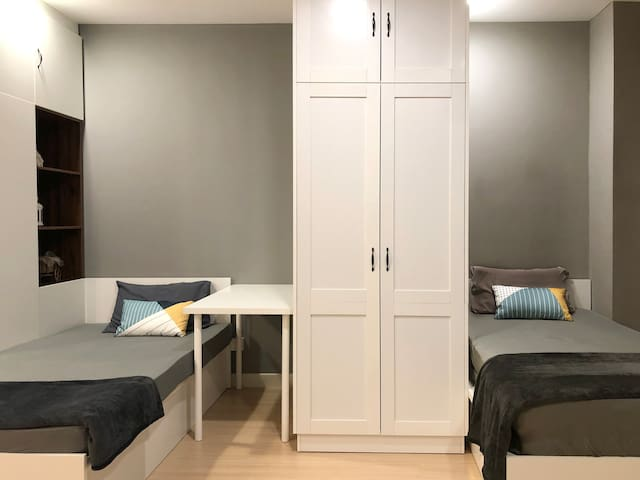 Bed Space: Two Super Single Bed and One Extra Mattress