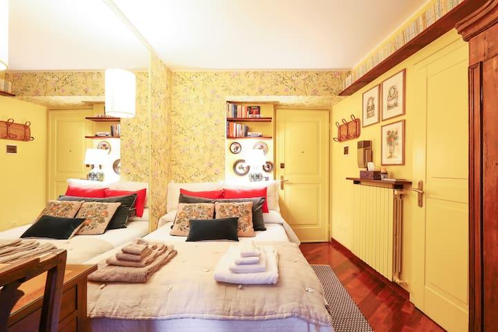Charming tiny cozy studio with terrace  in Brera