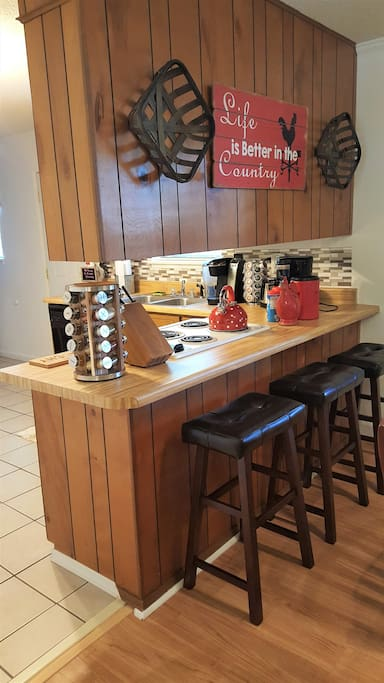 Extra Bar Stools for Little Guests or Breakfast Eat-in