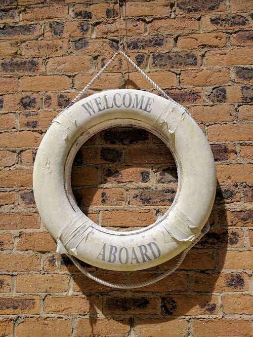An original life buoy just in case!