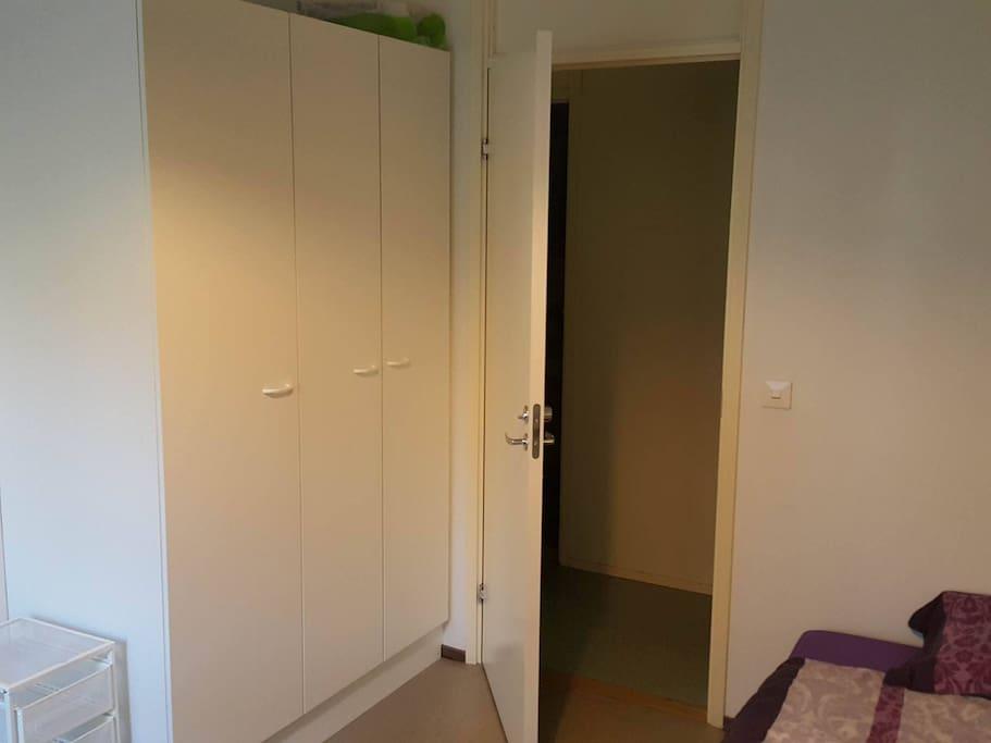 door to common area