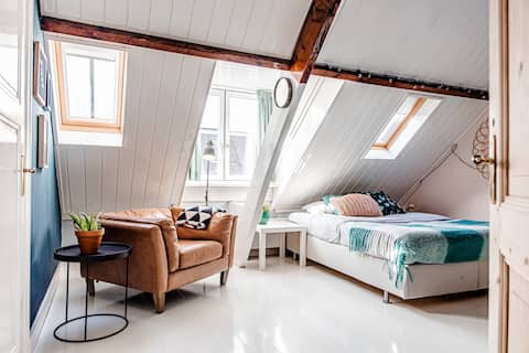 Attic space with private shower - toilet (1person)