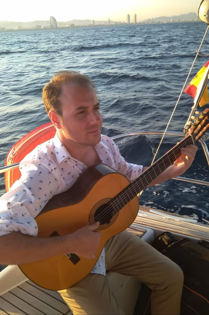 Listen to the sound of a Spanish Guitar