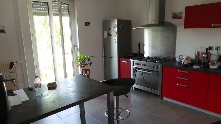 chambre dans appartement avec jardin - 米盧斯(Mulhouse) - 公寓