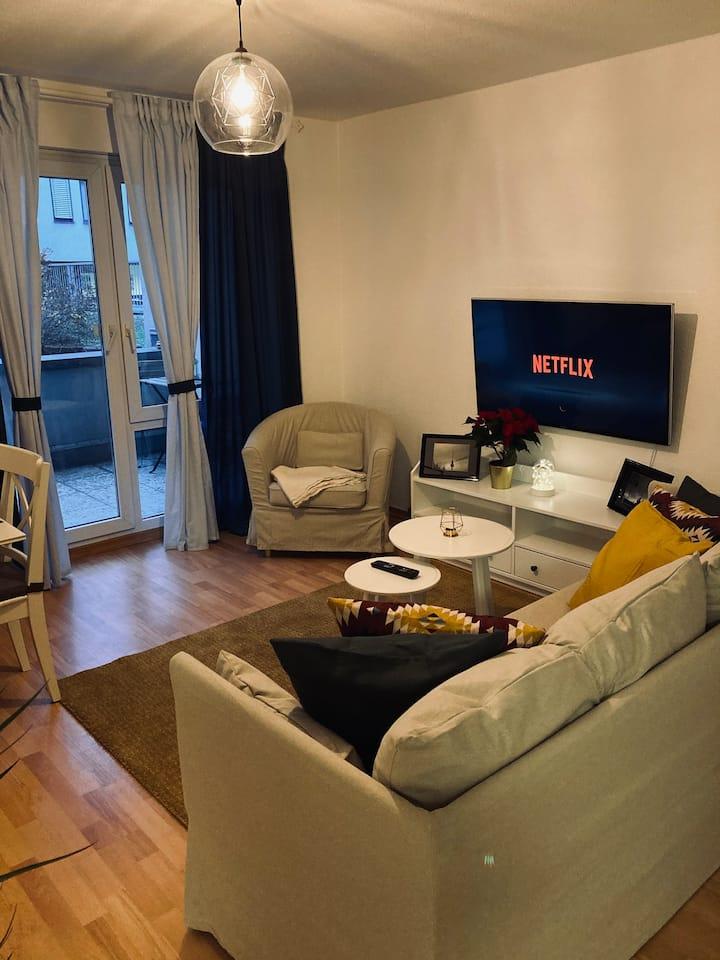 2 Zimmer City Apartment mit Terrasse & Tiefgarage