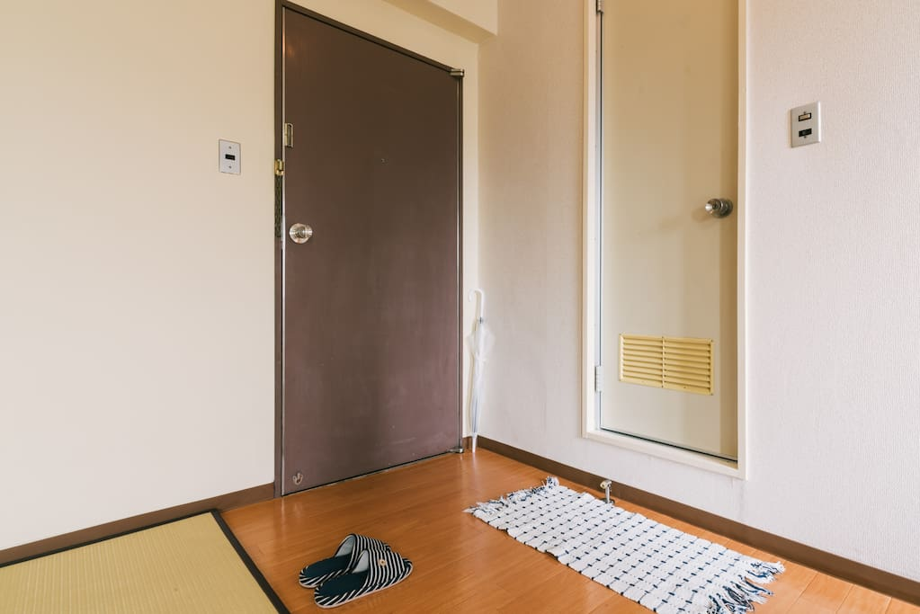 your room door, another guest can not enter your room. you only use your room.